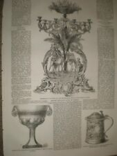 Testimonial to Moses Montefiore by son Viceroy of Egypt 1859 print ref AX