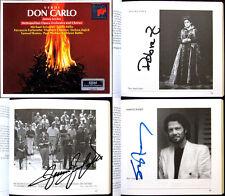 RAMEY, FURLANETTO, ZAJICK Signiert VERDI: DON CARLO LEVINE 3CD Sylvester Millo