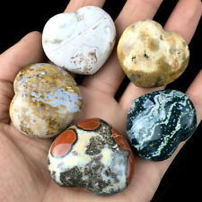 TOP! Natural Ocean Jasper Crystal Large Size Polished Love Heart Healing 1PC