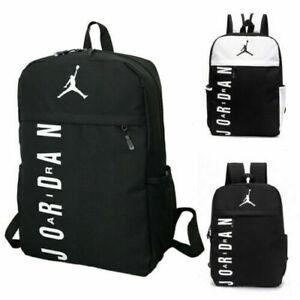 Mens Womens Unisex Large Backpack Rucksack Bag Travel Sports School Black White