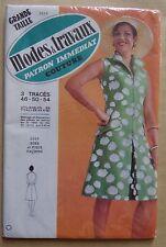 #) patron vintage MODES ET TRAVAUX robe femme grande taille