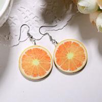 Strawberry Pineapple Drop Dangle Hook Large Fruit  Earrings Summer Jewelry Gift