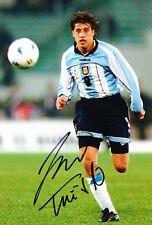 Hernan Crespo Signed 12X8 Photo Argentina AFTAL COA (1949)