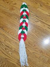 Vintage Christmas Jingle Bells Wall/Door Hanging Knit Crochet Decor Handmade