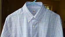 NEW/NWT PETER MILLAR LILAC MULTI-COLOR CHECK NANOLUXE DRESS SHIRT, SIZE 15 1/2