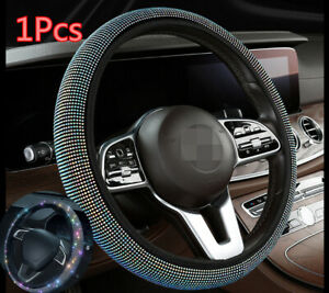Car Steering Wheel Cover With Colorful Diamond Crystal Auto Interior Accessories