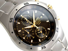 NEW SEIKO MENS TITANIUM CHRONOGRAPH 100M WATCH SND451P1 Warranty,Box
