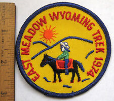 Girl Scout EAST MEADOW WYOMING TREK 1974 PATCH National Center West Horse Event