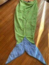 CHASING FIREFLIES Kathe Kruse Mermaid Tail Beach Towel Green Blue