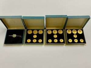 Vintage 1970s Golf-Related Pin and Buttons by Golf Rio Real Los Monteros - Boxed