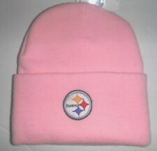 Pittsburgh Steelers NWT Authentic WOMEN S Pink Cuffed Beanie Knit Hat NFL 00cced30c
