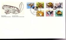 Canada 1988 Fdc combination of 7, sc#1155-1161 Mammal Definitives