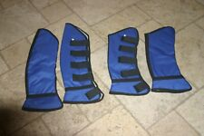 HORSE /& WESTERN SALE SET OF 2 PADDED /& LINED STANDING LEG WRAPS  BLUE EQUIGUARD