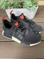 Adidas NMD r1 Kids Boys Boost Sneakers Shoes Black Red Size 5.5 GU