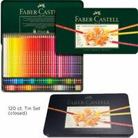 Faber-Castell Polychromos Color Pencils Tin 120 Set Professional Artist Quality