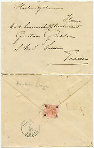 LEVANT AUSTRIAN LLOYD SHIPPING OFFICE 1903 DANUBID to TIVAT