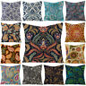 EE_ 45x45cm Paisley Flower Leaf Pattern Cushion Cover Pillow Case Home Sofa Deco