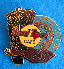 HOUSTON TEXAS RODEO COWBOY LEATHER BOOT SHOE SPUR 1995 Hard Rock Cafe PINS