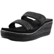 Sandalias y chanclas de mujer de color principal negro de piel Talla 39.5