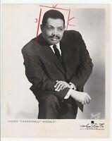 """Julian """"Cannonball"""" Adderley Press Photograph Daily News New Jersey 1964"""