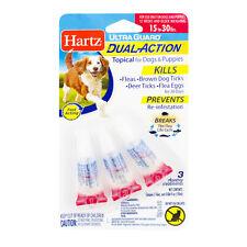 Hartz UltraGuard Topical FLEA & TICK PREVENTION DROPS Dogs Puppies 15-30 lbs