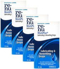 4x Bausch & Lomb Renu Multiplus Lubricating & Rewetting Drops 8mL(0.27FL OZ) NEW