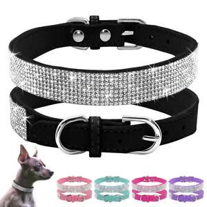 Purple Crystal Dog Collar Bling Diamante Cat Fancy Rhinestone Dog Necklace