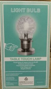 FUNKY STYLISH LIGHT GLOBE SHAPED TOUCH LAMP!.STUDY, BEDROOM,LOUNGE, GREAT GIFT!!