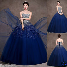 New Royal Blue Quinceanera Dresses Formal Pageant Ball Gown Custom Size 2-20++++
