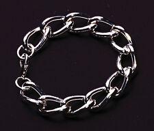 Chunky silver chain unisex fashion bracelet slick & cool finish hot GIFT (NS5)