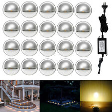 20Pcs Warm White Low Voltage Half Moon Outdoor Yard LED Deck Step Stair Lighting