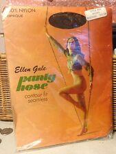 Exciting!! Vintage Ellen Gale nude brown pantyhose w/ m