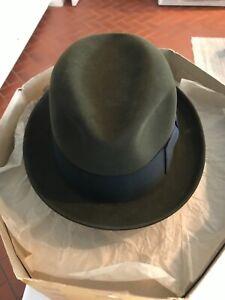Vtg 50s Knox Hat 7-1/8 Felt Fedora Hat and Box