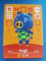 178 Hugh Animal Crossing Amiibo Card Single - Series 2 Near Mint US Version