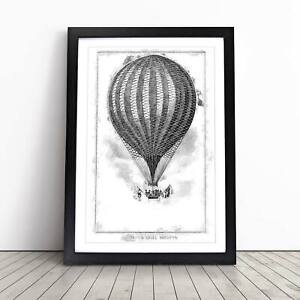 Hot Air Balloon Vintage John Wise Framed Picture Print Home Décor Wall Art