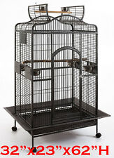 """Extra Large 32"""" X 23"""" X 62""""H Parrot Open Dome PlayTop Cockatiel Macaw Cage -148"""
