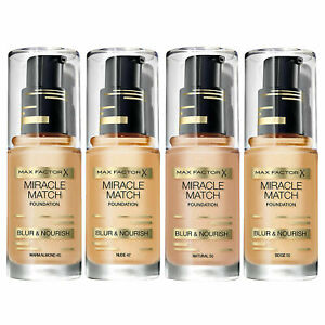 Max Factor MIRACLE MATCH Blur and Nourish Foundation 30ml- Choose your Shade NEW
