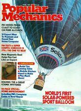 1982 Popular Mechanics Magazine: World's 1st Solar-Powered Sport Balloon/Roof