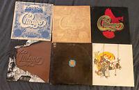 6 Chicago Vinyl Record Lot Transit Authority, VI, VII, VIII, IX Greatest Hits, X
