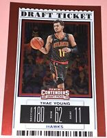 TRAE YOUNG 2019-20 PANINI CONTENDERS DRAFT TICKET BLUE FOIL SP #49- 2ND YEAR SP
