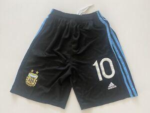 Lionel Messi #10 Argentina Soccer Shorts Men Size L Free Ship/Return