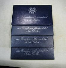 Lot of 4 - 1971-S 1972-S 1973-S 1974-S Eisenhower Ike SILVER Dollars
