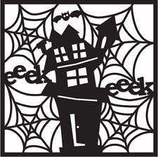 Creative Imaginations Spooks Die-Cut Paper Spooky House Halloween Scrapbook