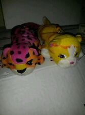 Lisa Frank Hunter and Sunflower small plushies. Tigers. Great vintage cond