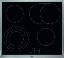 AEG HE634070XB Glaskeramik-Kochfeld herdgebunden 60cm Edelstahlrahmen