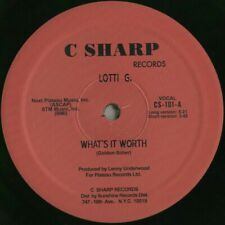 """12"""" Boogie - Funk LOTTI G. what's it worth 1983 COLORED REISSUE"""