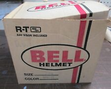 Vintage Bell Helmet R-T 1978 White Model JUST Box and Warranty
