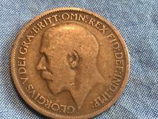 1913 George V British Half Penny