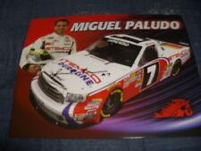 2011 MIGUEL PALUDO #7 STEMCO SIGNED NASCAR POSTCARD