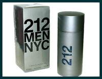 212 Men by Carolina Herrera 3.4 oz 100 ml Eau De Toilette For Men New in Box